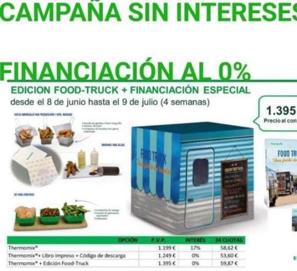 Campaña 0% interés, edición Food Truck especial Thermomix® .