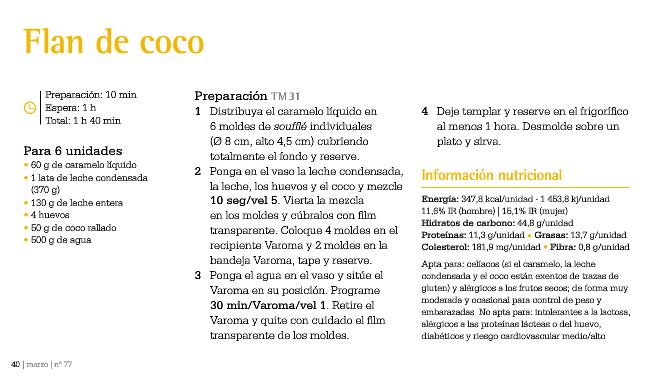 Flan de Coco.
