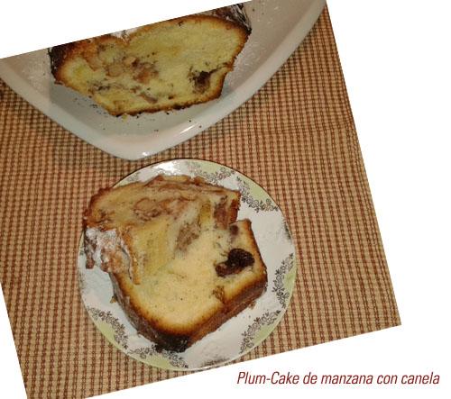 Plum Cake de manzana con canela