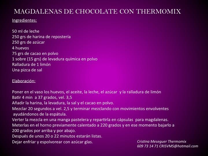 MAGDALENAS DE CHOCOLATE CON Thermomix® , FANTÁSTICAS