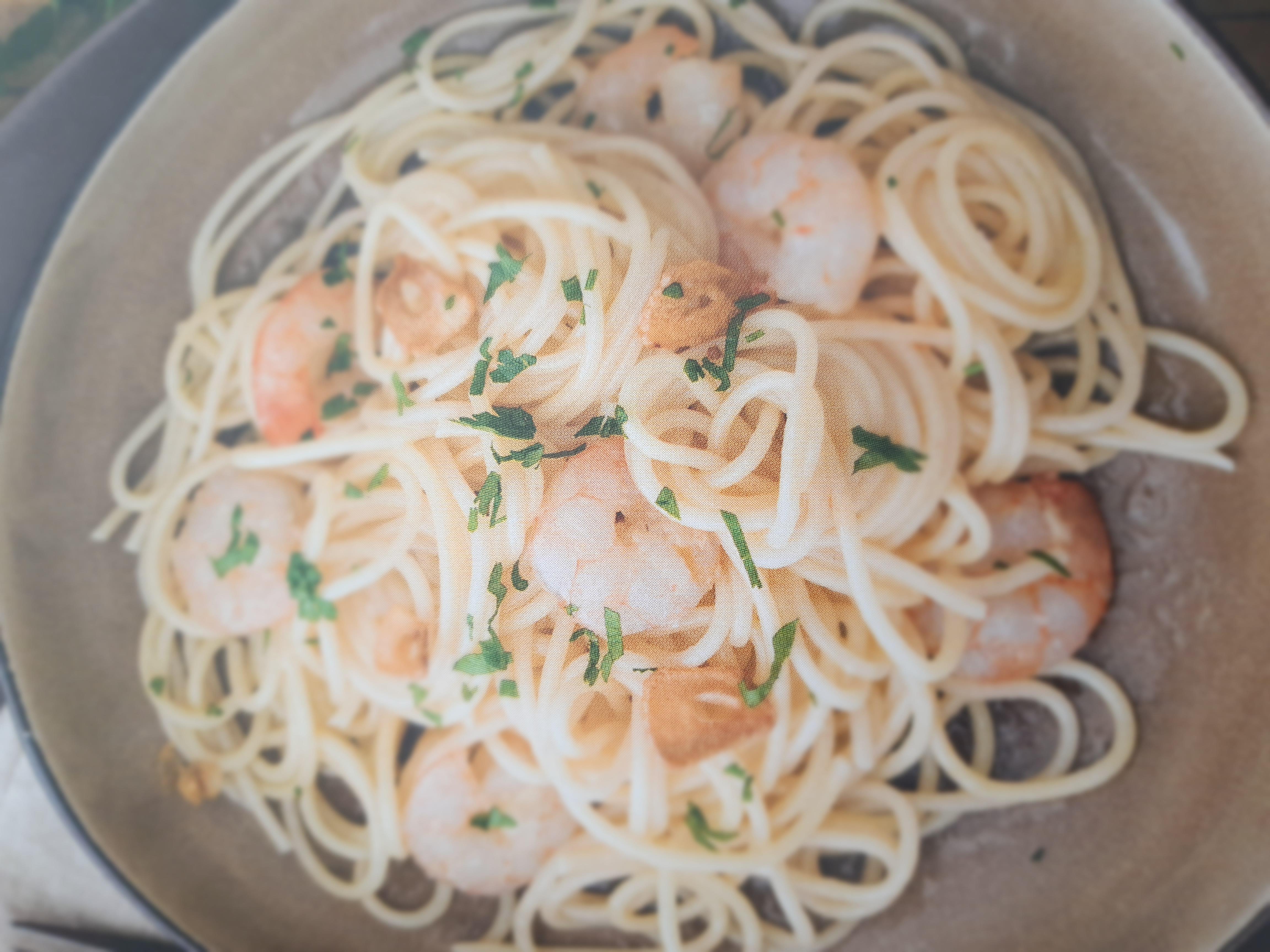 Espaguetis Con Gambas Al Ajillo Pastas Y Arroces Blog De Mªvioleta Avila Mateos De Thermomix Barcelona