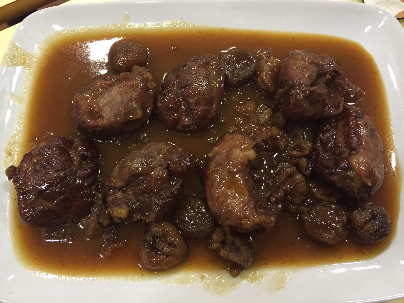 Carrilleras de cerdo con salsa de castañas-Thermomix®
