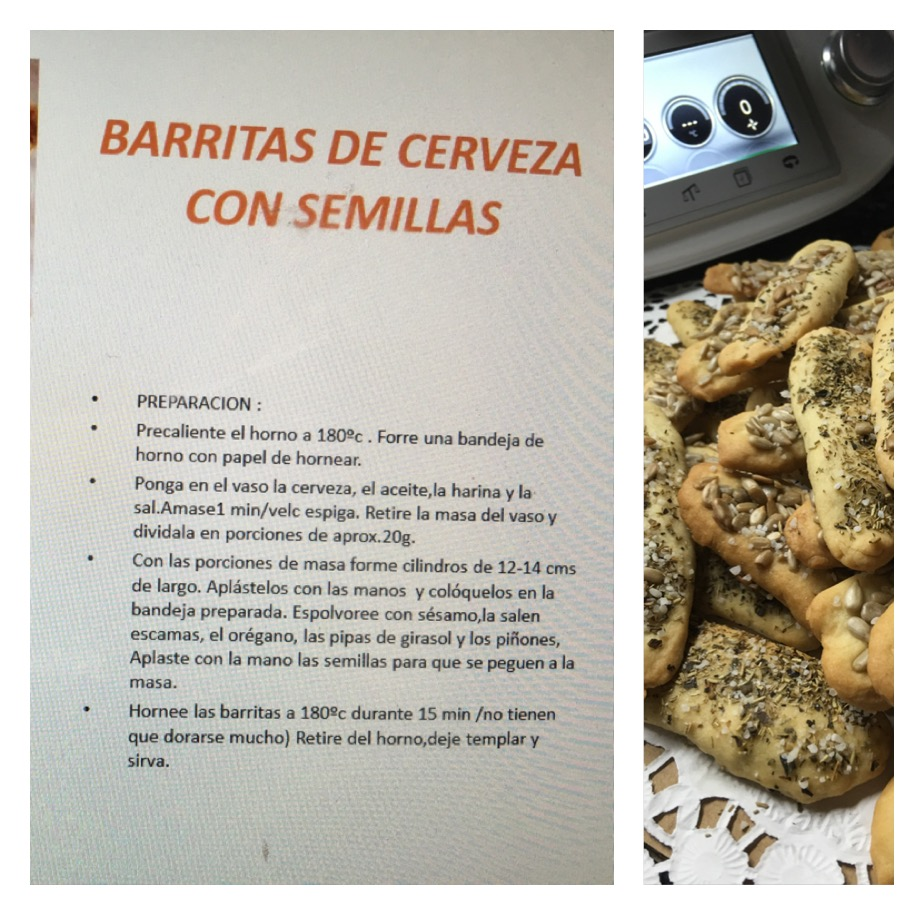 BARRITAS DE CERVEZA CON SEMILLAS CON Thermomix®