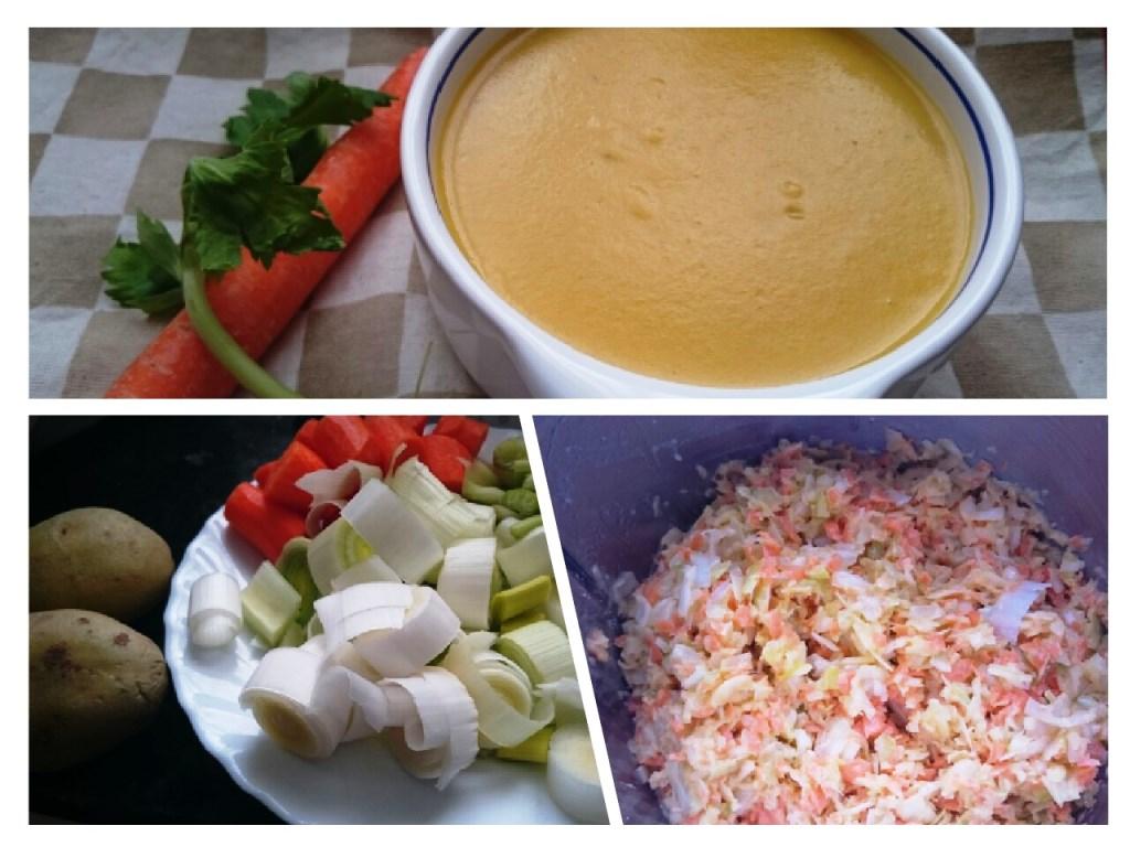 Crema nutritiva y depurativa de verduras: troceado y triturado