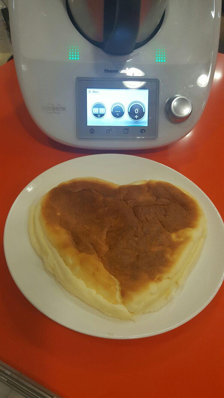 Tarta de queso japonesa light con Thermomix®