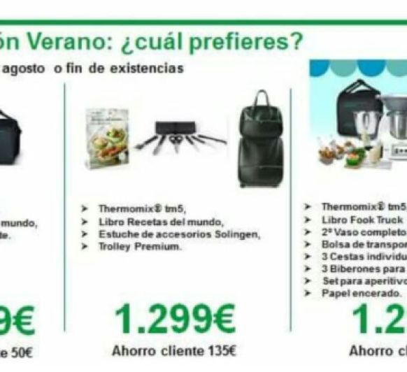 Thermomix® TM5: EDICIONES DE VERANO A PRECIO PROMOCIONAL