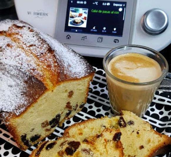 CAKE DE PASAS AL RON EN Thermomix®
