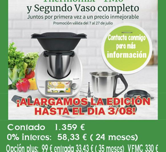2° VASO + CUBRECUCHILLAS + 0%, OPCIÓN PLUS o CONTADO
