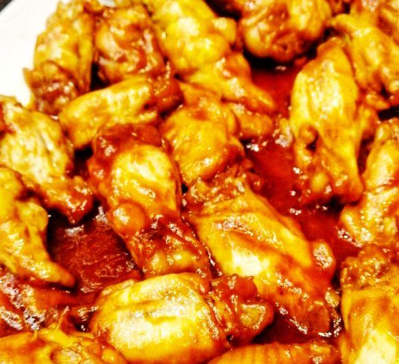 Alitas de pollo a la barbacoa