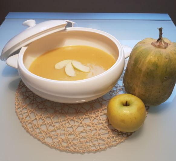 Crema de calabaza y manzana, con Thermomix®