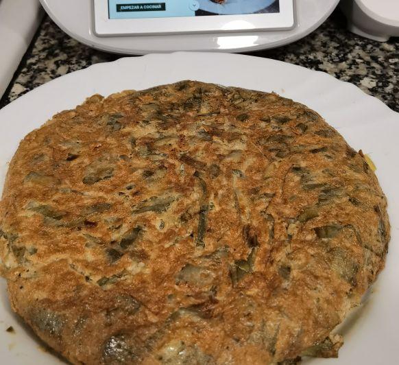 Tortilla de alcachofas, una maravilla!!!!