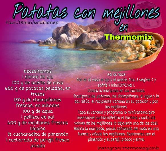 PATATAS CON MEJILLONES EN Thermomix®