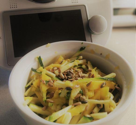 Amanida de carbassó i mango