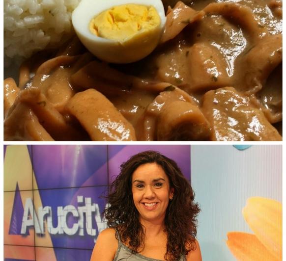 Calamares Encebollados. Una de las recetas preferidas de Marta Altarriba.