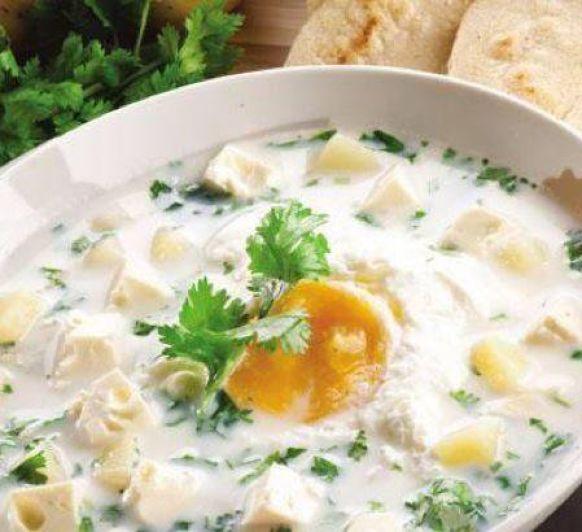 Pisca Andina (sopa de patata y cilantro)