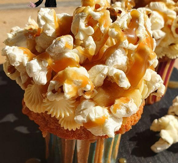 Cupcakes con palomitas y toffee salado en Thermomix®