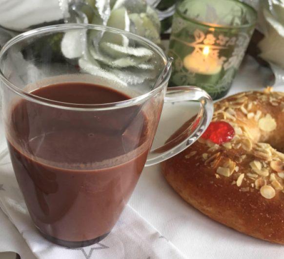 Chocolate a la taza, sin azúcar. Con Thermomix®