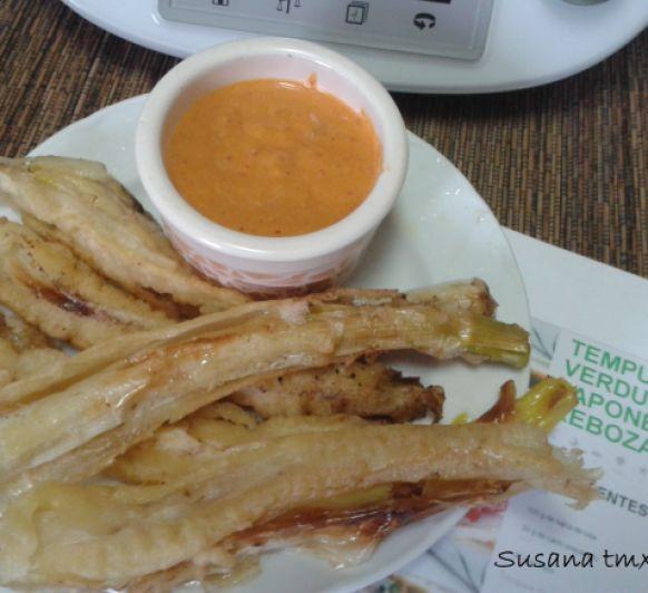 Calçots en tempura ... con Thermomix®