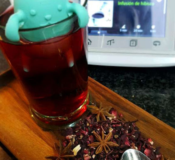 INFUSIÓN DE HIBISCO EN Thermomix®