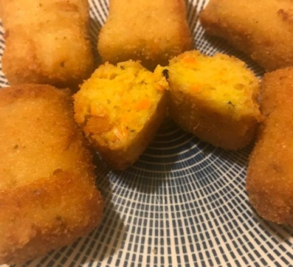 Croquetas veganas de zanahoria y curry