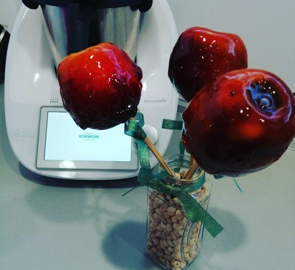 Manzanas caramelizadas. Función ''punto de azúcar''