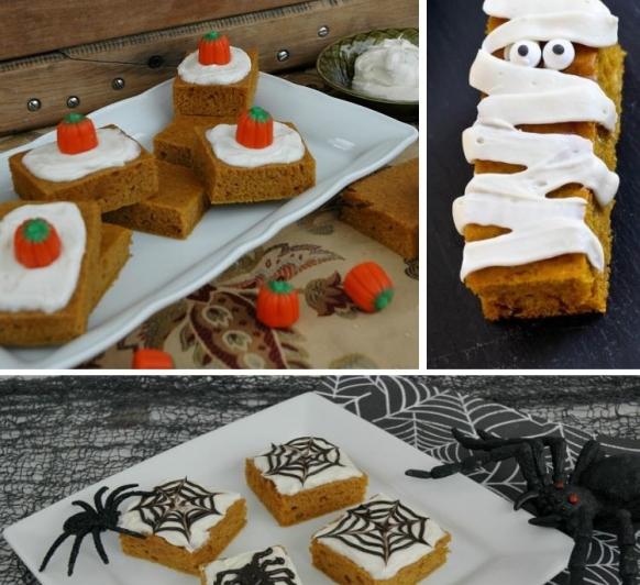 Halloween, pastel de calabaza o PUMPKIN BARS, con Thermomix®