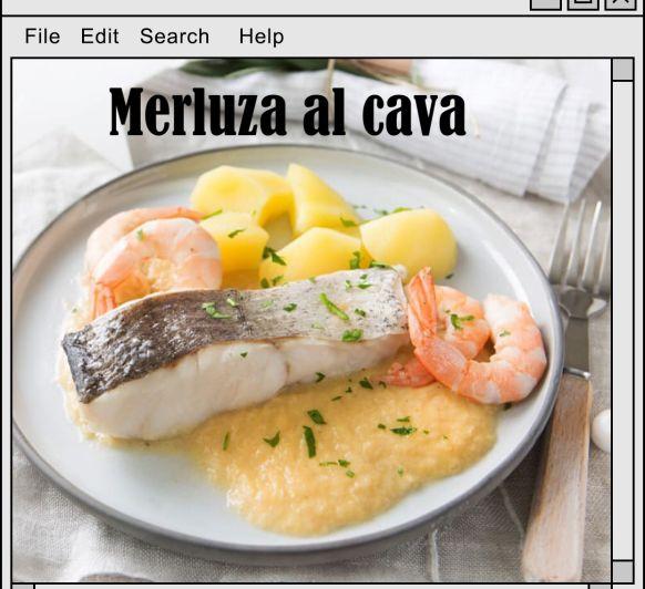 MERLUZA AL CAVA CON Thermomix®