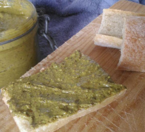 Crema de pistachos