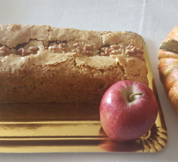 Plum cake o bizcocho de calabaza, manzana y avena. Con Thermomix®