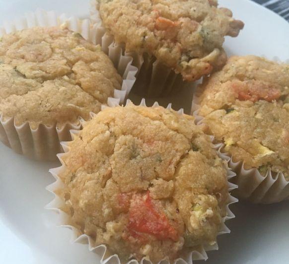 Muffin de coca de verdura