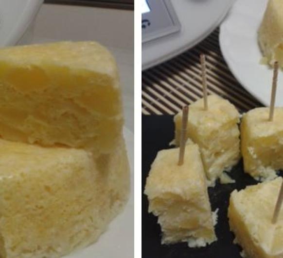 Tortilla de patata cuajada en el Varoma del Thermomix®