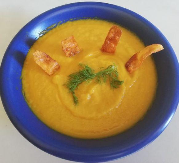 Crema de zanahoria con hinojo en Thermomix®