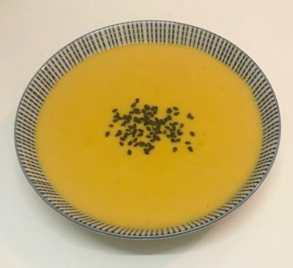 Crema de calabaza con leche de coco y curry en Thermomix®
