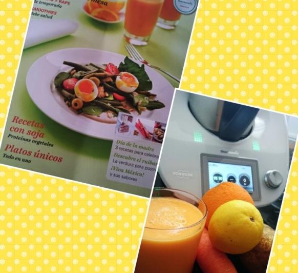 Nueva revista y llena de Smoothies: Smoothie naranja, de zanahoria, naranja y pera