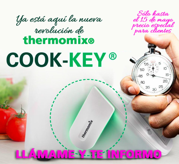 Tic-tac, tic-tac... ya esta aquí lo último de thermomix®. El Cook-key!!!