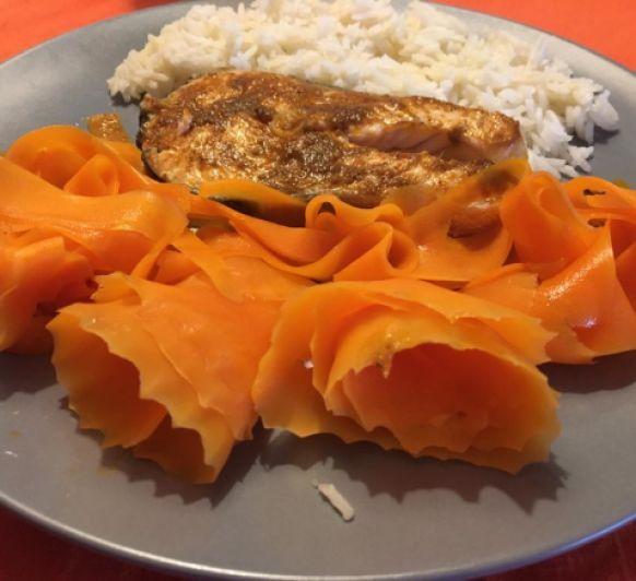 Salmón tikka con arroz basmati con Thermomix®