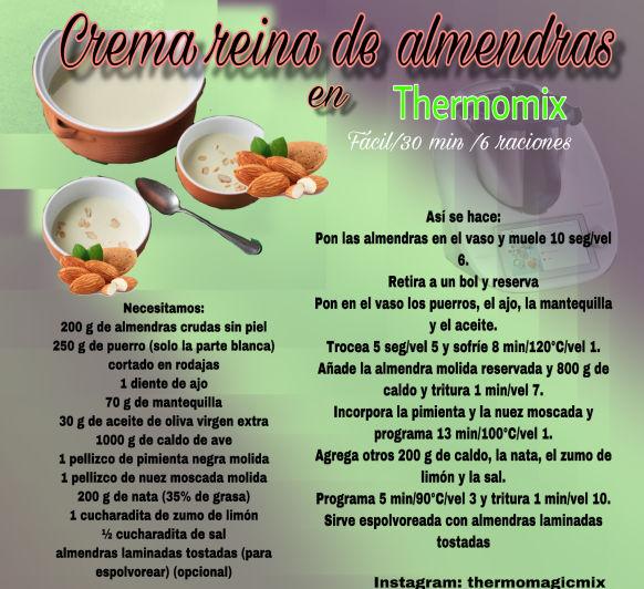 CREMA REINA DE ALMENDRAS EN Thermomix®