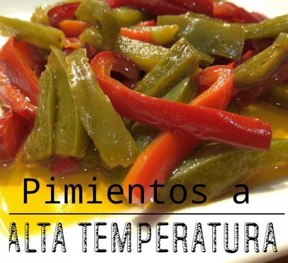 Pimientos cocinados a Alta temperatura con Thermomix®