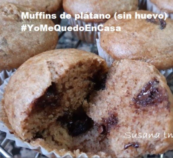 Muffins de plátano #yomequedoencasa ... con Thermomix®