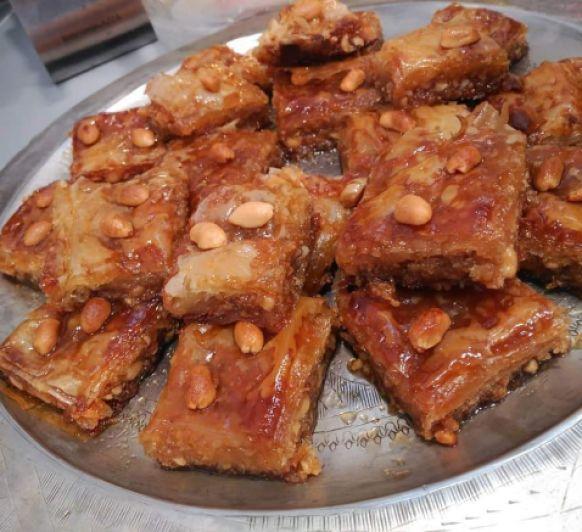 Pastelitos de miel libaneses. Baklavas