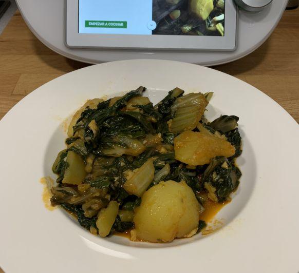 Acelgas con patatas en Thermomix®