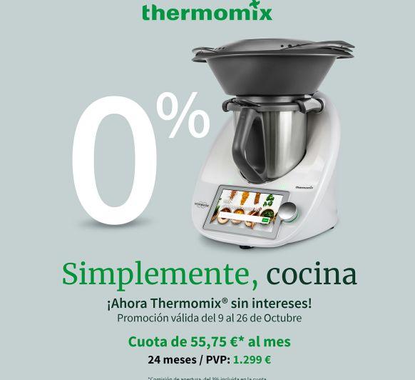 Precio Thermomix® TM6, financiación sin intereses