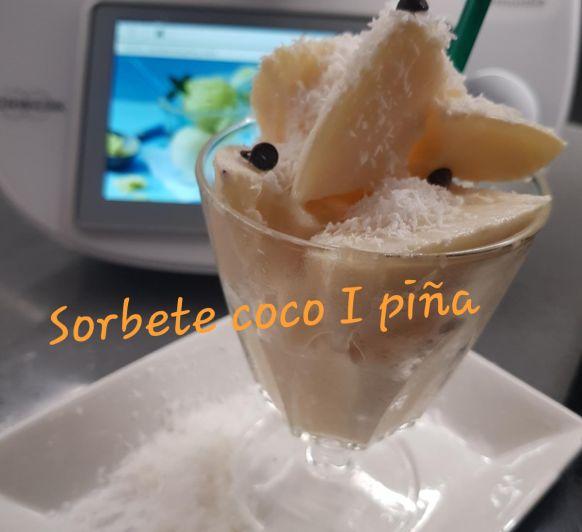 SORBETE COCO y PIÑA