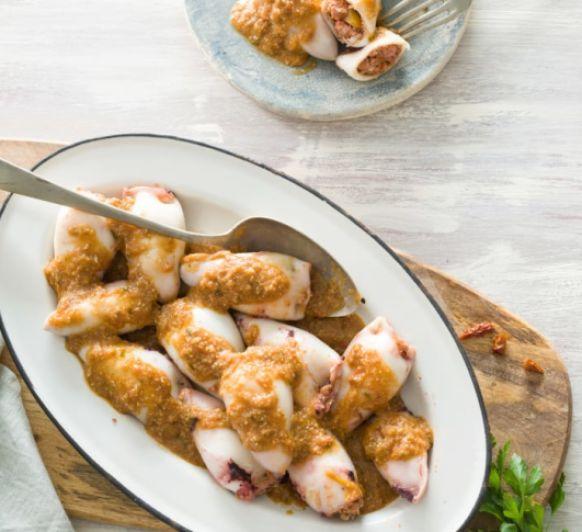 Calamares rellenos con Thermomix® , la mejor receta