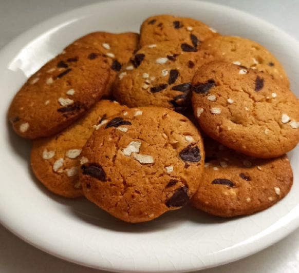 Galletas de chocolate y nuez con Thermomix® (cookies)
