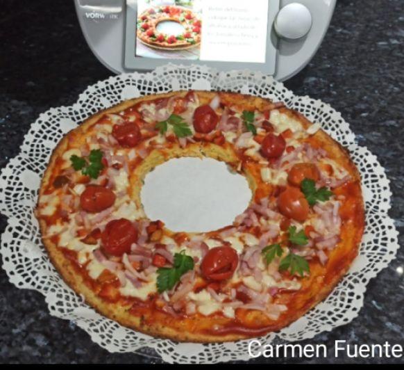 Corona o Pizza de coliflor en Thermomix®