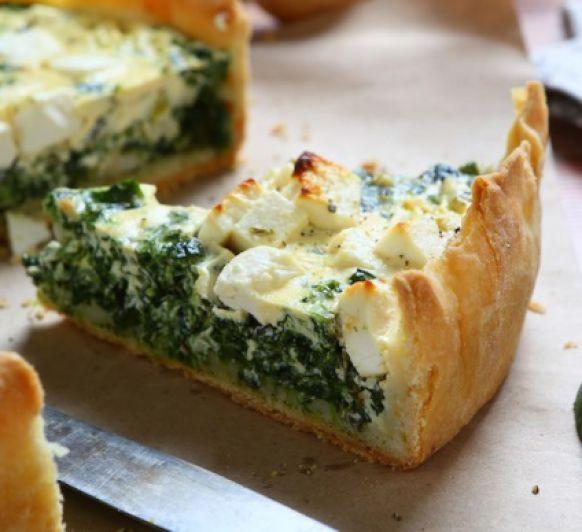 Quiche de queso y espinacas