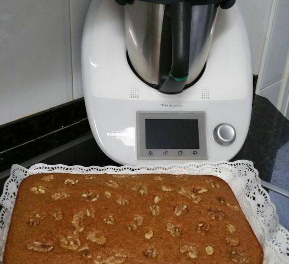 Bizcocho de calabaza con harina de espelta con Thermomix®