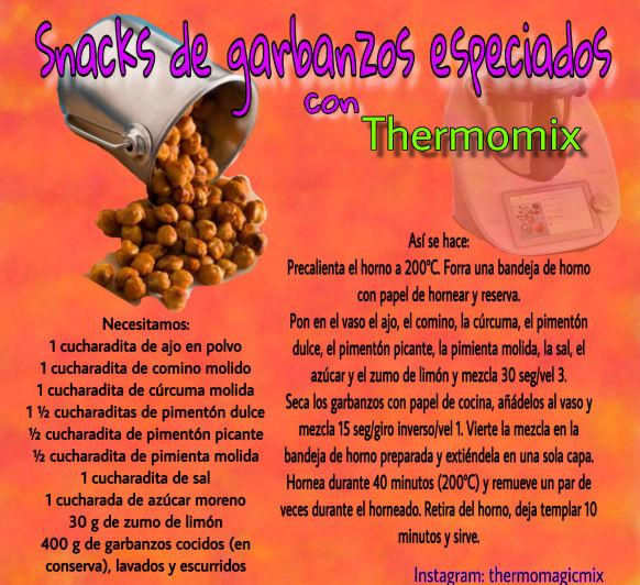 SNACKS DE GARBANZOS ESPECIADOS CON Thermomix®