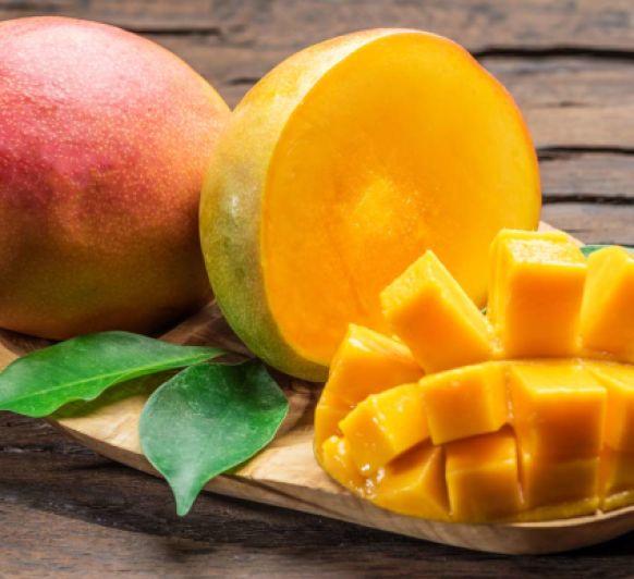 Presa de cerdo con salsa de mango